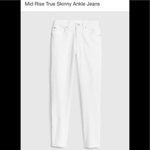 NWT Gap size 28 White Mid Rise True Skinny Jeans